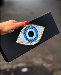 2019 bolsas de olhos negros Sólido Preto Patchwork Glitter Evil Eye Acrílico PVC Plastic Box Embreagens Praia Verão Viagem noite bolsas Mulheres Acrílico desconto bolsas de olhos negros