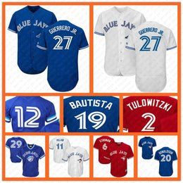 f4db72483 Vladimir 27 Guerrero Jr. Toronto Blue Baseball Jersey Jays 20 Josh  Donaldson 19 Bautista 6 Marcus Stroman 11 Kevin Pillar Alomar 29 Carter