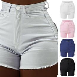 calção jeans estreita Desconto Pop2019 cintura alta terno-vestido calça jeans força elástica calça apertada