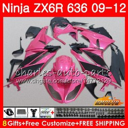 Argentina Cuerpo para KAWASAKI NINJA ZX-6R ZX-636 ZX 6R ZX6R 09 10 2011 2012 33NO.169 ZX636 rosa negro caliente ZX600 ZX 636 600CC 6 R 2009 2010 11 12 Carenado cheap pink kawasaki ninja zx6r Suministro