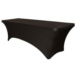 toalha de crochet quadrada Desconto Stretch lycra do estiramento de pano da tabela da tampa de tabela para as mesas de dobradura padrão preto mais durável Clássico sytle