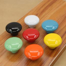 7pcs bonbons couleur boutons de meubles ronds en céramique tiroir bouton cabinet tire le Cabinet ? partir de fabricateur