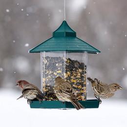 2019 catena di uccelli di plastica Selvaggio Alimentatori dell'uccello di plastica contenitore di alimento all'aperto attaccatura impermeabile pigri Persone alimentazione animali Contenitore Per decorazione del giardino XD21639