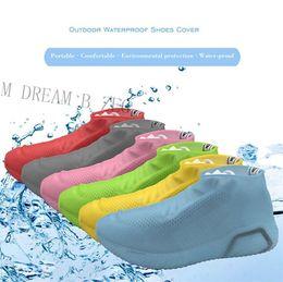 Ботинки для обуви онлайн-Силиконовые Anti-Skid дождя Обувь Сапоги Водонепроницаемая крышка башмака Дождевик крышка Recyclable Противоскользящие обувь Галоши для пляжа Раининг