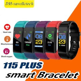 2019 ID115 Plus para apple Smart Bracelet watch Fitness Tracker Step Counter Activity Monitor Band Vibration Wristband pk fitbit xiao m3 desde fabricantes