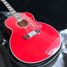 Neue akustische akustikgitarren online-Neu 2019 43 '' Jumbo J200 Elektrische Akustikgitarre 20F Laminated Body Fishman 101 Tonabnehmer Gold Hardware
