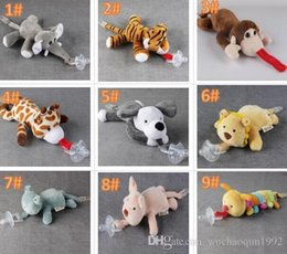 2019 соски-пустышки для соски 10 Стиля Нового силиконовое животное соска с плюшевыми малышами детских игрушек жирафа слоном сосками детьми новорожденные малышами детских товары включают пустышки