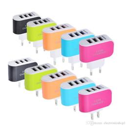 2019 neue 2018 Wholesales Neue Ankunft 3-Port USB Wand Home Reise AC Ladegerät Adapter für Telefon EU / US Stecker süßigkeiten Ladegerät von Fabrikanten