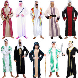 party dress white boys Coupons - arab clothing kids chileren boys greek goddess Cosplay Princess Costumes Arabic Prince Fancy Dress Party Halloween Women Men