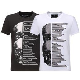 Мужские майки для мужчин онлайн-Летняя улица носить черепа Париж мода мужчины мода печати хлопок черепа футболка хлопок футболка повседневная футболка