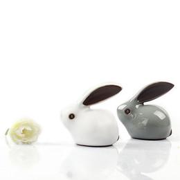 Té Adornos para mascotas Gekio Conejo Té Favor Creativo Kung Fu Juego de té Boutique Zodiac mini Decoración para el hogar Adornos Decoración de cerámica desde fabricantes