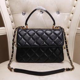 Golden button Diamond Lattice and Zig Zag Women handbag Fashion Genuine  leather Paris Luxury Totes Size 25 12 17CM Model 92236 ladies model handbags  deals a5d2d322125ea