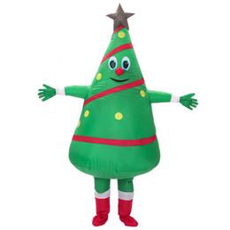 2019 arbres gonflables Vente chaude adulte costume gonflable nouveau design Vert Sapin De Noël Costume Livraison Gratuite cosplay arbres gonflables pas cher