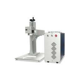Marca de aluminio online-Máquina de marcado láser de fibra óptica de alta velocidad 20W de alta precisión P20 utilizada para el grabado de latón de aluminio y plata y oro de latón para la venta