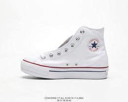 Scarpe bianche in cima online-2019 New Converse All Star Hi Scarpe piattaforma Donna Fashion High Top Heels Luxury Designer Sneakers Casual Chuck White Skateboard 35-40