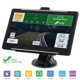 caja dvb t2 Rebajas 7 pulgadas portátiles con GPS Navigator 256-8GB HD Pantalla táctil GPS de navegación por satélite con Global Mapa