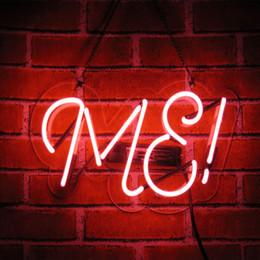 2019 construir barra de luz led Entrar ME Neon, Rosa de vidro Handmade Luz Neon, Plug in, 14 x 6 polegadas novidade Luz Noite, Pendurar sinal decorativo Beer Bar for Girls Bedroom