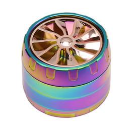 Aereo di vetro online-Il più nuovo tipo di motore aereo Grinder in metallo Rainbow Grinder 4 strati Filtro tabacco smerigliatrici Spice Crusher Twisty vetro vetro smussato Mano tubo