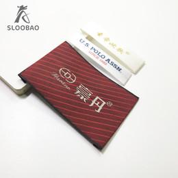 étiquette standard sur mesure en tissu sur mesure étiquette tissée sur mesure en brocart double face haute densité, étiquette rouge-or ? partir de fabricateur