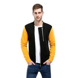Мужская куртка цвет рукава шить двойная молния дизайн моды сплошного цвета пальто кардиган мужская толстовка cheap double zipper jacket design от Поставщики дизайн двойной куртки с молнией
