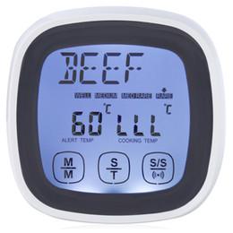 sondas de termometro digital Rebajas TS - BN53 Cronómetro para cocinar carne con pantalla táctil Termómetro con sonda