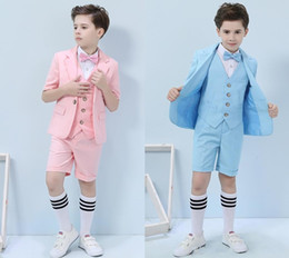 vestiti del ragazzo di prom Sconti Belle ragazzi Occasioni formali Business Business Business Boy Birthday Party Suits Prom Business Suits Boy Flower Girl (Giacca + Pantaloni + Gilet + Papillon) No: 005