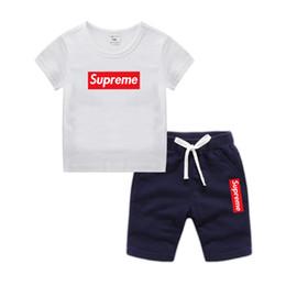 fd0fbde2 2019 moda de verano 1-9 años de edad ropa infantil bebés niños niñas  camisetas pantalones cortos trajes de algodón de manga corta tops niños ropa  conjuntos ...