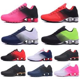 809 36 46 Nuova Shox pattini correnti delle donne Deliver Oz Nz Mens Triple Nero Bianco Rosso Sneakers Sports Trainer Scarpe Outdoor