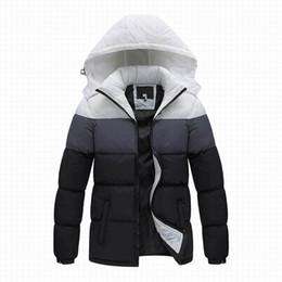 cappotto di pelliccia blu cappotto uomini Sconti 2019 nuovi uomini di marca giacca invernale, moda sport all'aperto inverno giù cappotto uomo, giacca sportiva tuta sportiva di marca giacca anti-vento con cappuccio