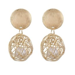 orecchini pendenti a sfera Sconti Nuovo elegante Big metallo dell'annata Orecchini per la sfera d'oro donne geometrica Dichiarazione dell'orecchino di goccia ciondola gli orecchini Hanging Fashion Trend Jewelry
