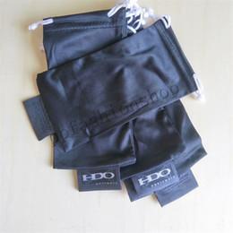 Óculos de sol originais do pacote on-line-Marca Original óculos saco ok óculos de embalagem esportes pano macio óculos de sol bolsa de embalagem cor preta letra branca MOQ = 20 pcs
