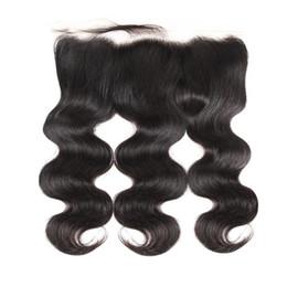 LEDON 13x6Lace Frontal, Body Wave, BW, Color 1B negro, Densidad 130%, 100% Extensiones de cabello humano remy birmano desde fabricantes