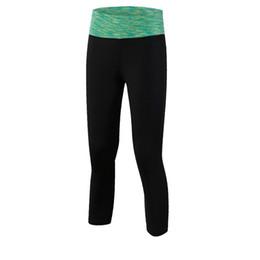 lindo peito negro Desconto Camuflagem feminina Yoga Cropped Calças Yoga Training Correndo Aptidão Trecho Apertado Wicking Sweatpants de secagem Rápida