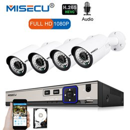 MISECU 4CH 1080P POE NVR Kit 2.0MP CCTV Security System 4PCS Audio Record Sound IP Camera P2P Outdoor Video Surveillance System от Поставщики nvr p2p