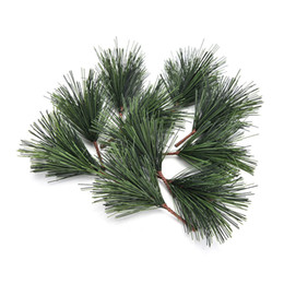 needle tree Coupons - Hot Sale 10 Pcs lot Artificial Pine Needles Xmas Tree Decor Needle Mixed Branchs Christmas Ornament New Year Home Supplies