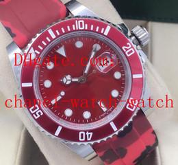 2020 pulseira de borracha vermelha Topselling Top Qualidade Red Dial 40mm relógio de pulso dos homens 116610 Ceramic Asia 2813 Mecânico Automático Mens Watches Faixa de borracha pulseira de borracha vermelha barato