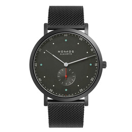 nomos watches Promo Codes - 2019 Brand nomos Men Quartz Casual Luxury Watch stainless steel Men Watches Male Clock small dials work Relogio Masculino Men Watches Quartz