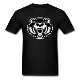 shirt grizzly Sconti Ultime magliette Grizzly Bear Tees Print Magliette da uomo Top nero 100% cotone T-shirt Abbigliamento normale Estate Stile semplice