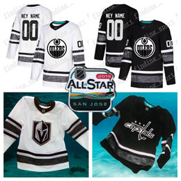 62c01438496 Customized men women Youth Edmonton Oilers 2019 All-Star Game Parley  Authentic Hockey Jersey white Black 97 McDavid 99 Gretzky 29 27