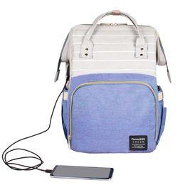 bolsitas para mamás Rebajas La bolsa de pañales de bebé maternidad bolso del panal de gran capacidad de carga USB bebé Bebek Bolsa Maternidade enfermería diseñador para una mamá