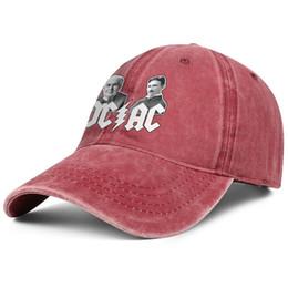 Рок-война ACDC рок красный мужской и женский дизайн бейсбольной джинсовой кепки установлены на заказ пустой винтаж персонализированные уникальные оригинальные джинсовые шляпы supplier hat war от Поставщики шляпа войны