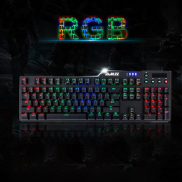 Drahtschaft online-Gaming-Tastatur für Computerspiele AK35i RGB Wired Game Black-Shaft mechanische Tastatur mit Hintergrundbeleuchtung Alloy 606