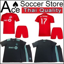 04c3db69e toronto soccer adult kit Jersey black 19 20 men set VAZQUEZ OSORIO ALTIDORE  GIOVINCO BRADLEY 2019 2020 Home red Football uniform toronto soccer jersey  on ...