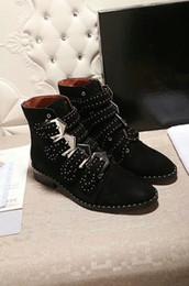 botas de borracha para designer feminino Desconto Desenhador Mulheres Clássico alto Botas Womens couro botas de neve WinterMartin Botas Senhora Grosso Rubber Chunky Heel ys18071107