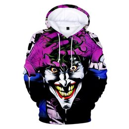 Негабаритные толстовки онлайн-Suicide Squad Joker 3D Printed Oversized Mens Hoodies and Sweatshirts Sudadera Hombre Casual  Tracksuits Cool Funny Hoody