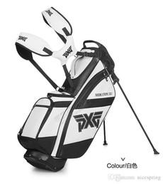 Putter golf club bianco online-Sacca da golf Sacca da mazze da golf 4 fori da viaggio set completo colore bianco o nero Stand Rack ferri putter driver fairway