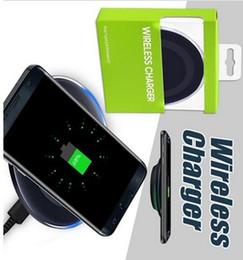 2019 магнитная накладка iphone DHL NEW HOT Ци Беспроводное зарядное устройство для Samsung Galaxy S8 S8 Plus S6 S7 край Примечание 8 Мода зарядки док колыбели зарядное устройство