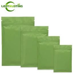 Canada Leotrusting 1000pcs / lot Mat Vert Fond Plat Aluminium Ziplock Sac Rescellable Vert Chaud De Soudage Zipper Poche Impression Personnalisée Sac supplier mat custom Offre