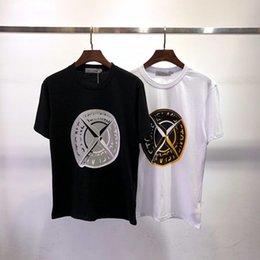 Marca Para Hombre Diseñador Camisetas Moda de lujo camiseta tendencia en el pecho logotipo grande camisas calidad algodón clásico letra de impresión hombres camiseta deportiva camiseta desde fabricantes