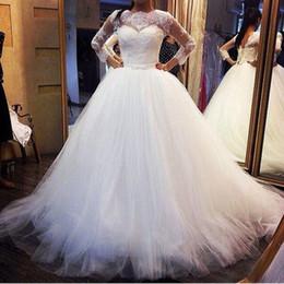 Canada Décolleté en dentelle pure de l'épaule robes de mariée avec Corset Retour robes de mariée manches courtes modestes à lacets robes de mariée sur mesure Offre